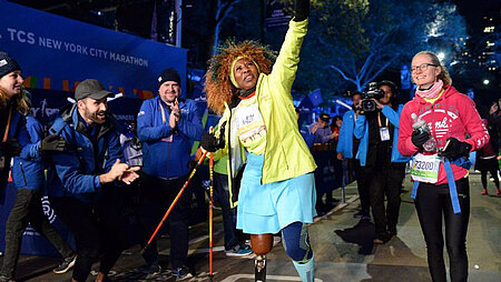 Asha Noppeney beim New York Marathon