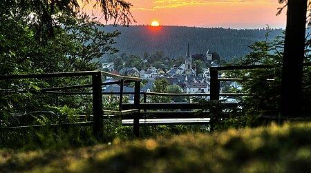 Sonnenuntergang in Bischofsgrün im Fichtelgebirge