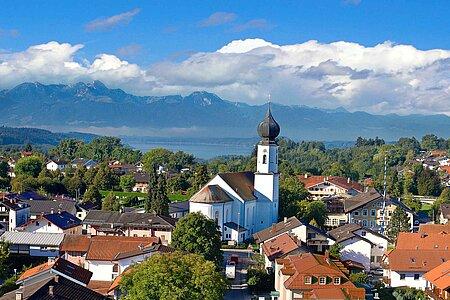 Ortsbild von Bad Endorf in der Region Chiemsee