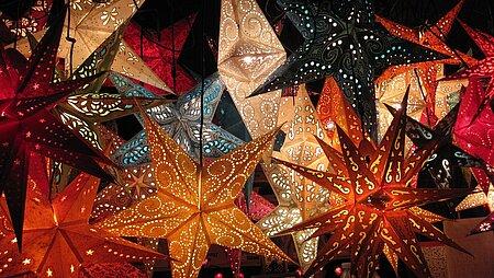 Weihnachtssterne Beleuchtung