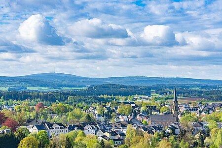 Ortsansicht von Münchberg im Fichtelgebirge