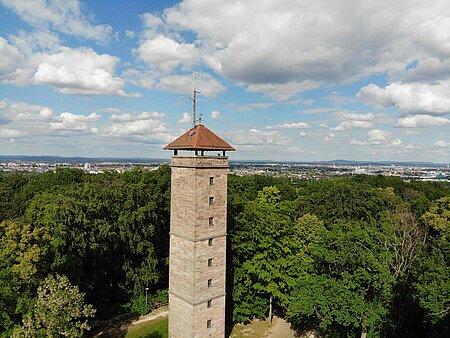 Alte Veste Zirndorf mit Blick auf Fürth und Nürnberg