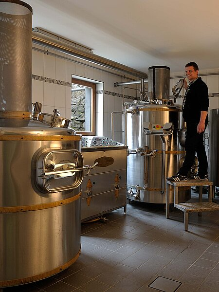 Mike Schmitt in der Brauerei Nikl