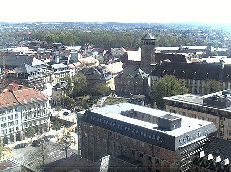 Webcam Bayreuth - Blick zum Luitpoldpaltz