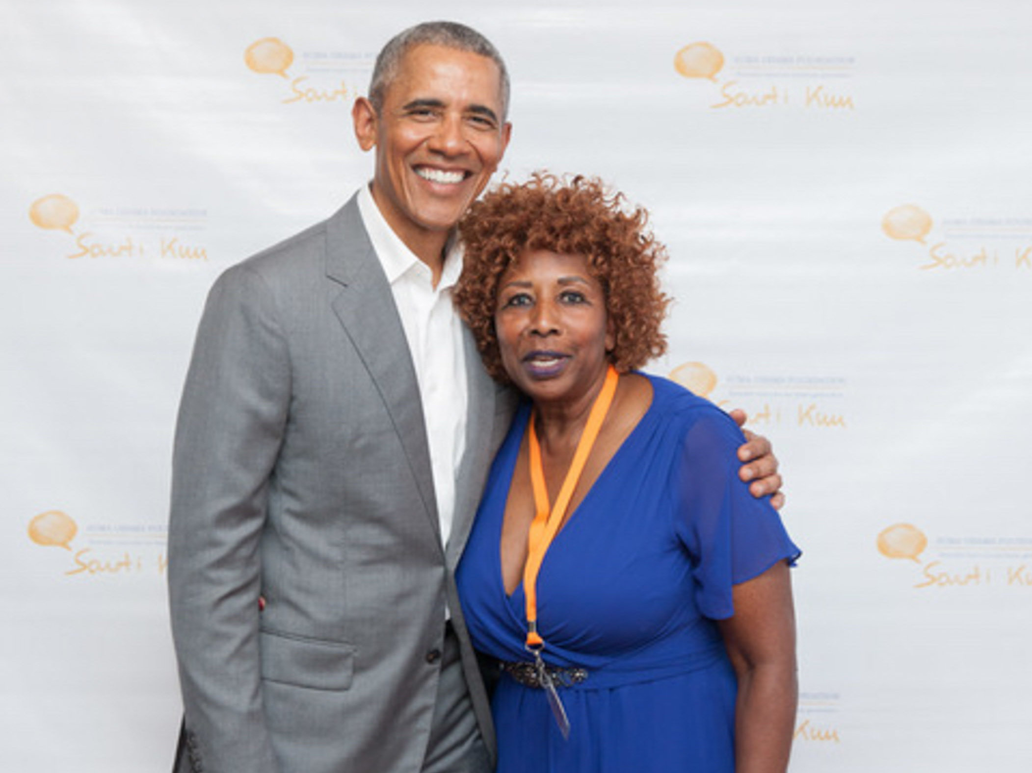 Asha Noppeney mit Barack Obama