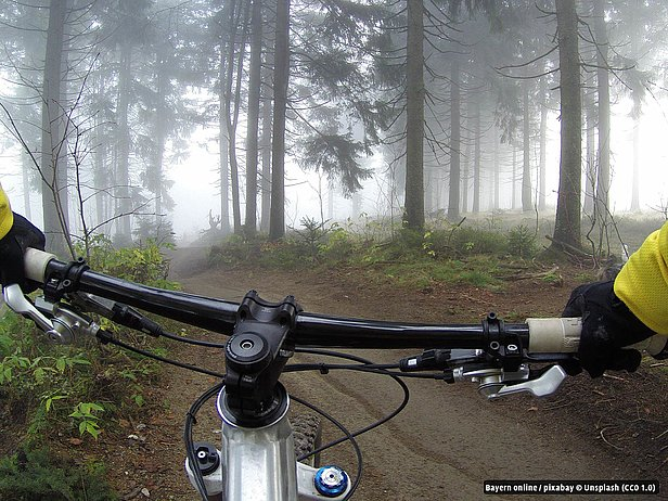 Mountainbike in Bad Alexandersbad im Fichtelgebirge