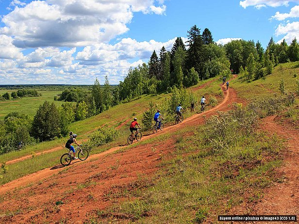 Mountainbike in Wallenfels im Frankenwald